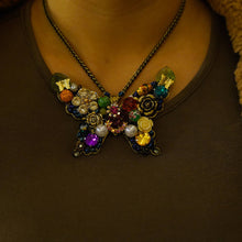 Load image into Gallery viewer, Maggie Devos - Jeweled Butterfly Necklace