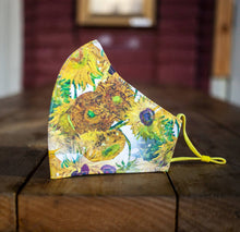 Load image into Gallery viewer, Maria Canta - Adult Face mask - Van Gogh Sunflowers