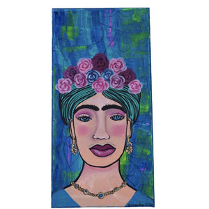 Chandra Merod- Queen Frida , Wall Art Mixed Media Painting, Wall Art, Chandra Merod, Sacramento . Shop