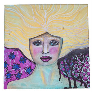 Chandra Merod- Goddess- Gallery Wrapped, Wall Art Mixed Media Painting