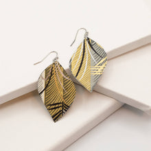 Load image into Gallery viewer, Susan Twining Creations - Bamboo Inspired Leaves With Metallic Silver Accents