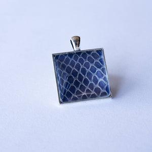 Nekkid Snek Jewelry - Purple Square Corn Snake Pendant - Sacramento . Shop