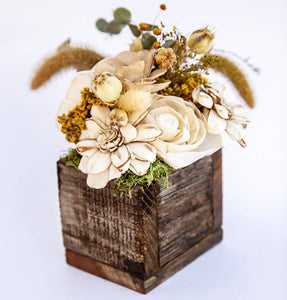 Ecojoyous - Unique Natural Repurposed Wood Floral Arrangement, Home Decor