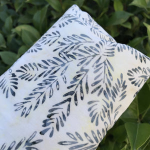 Miche Niche - Blue Batik Branches Lavender Eye Pillow with Washable Cover