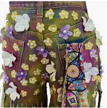 Load image into Gallery viewer, Grace Yip Designs- Be Kind With A Butt Full of Flowers Spaghetti Jeans