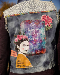 Maggie Devos - Embellished Denim Jean Vest