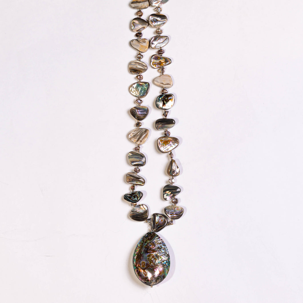Lori Sparks- Triple Stand Abalone Necklace