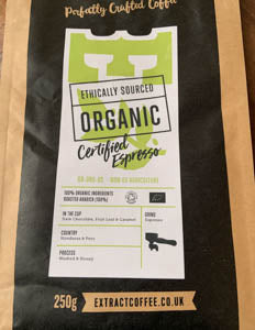 Organic Ground Coffee - Extract Roasters - For Espresso machines