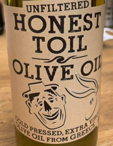 Honest Toil Extra Virgin Olive Oil 500ml
