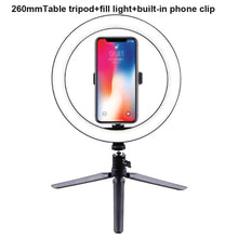 Load image into Gallery viewer, 10'' LED Selfie Desk Ring Light - A 26cm with clip - Hylthi