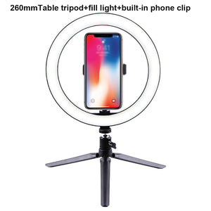 10'' LED Selfie Desk Ring Light - A 26cm with clip - Hylthi