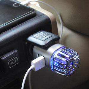 Aluminum Alloy Dual USB Car Air Purifier - Hylthi