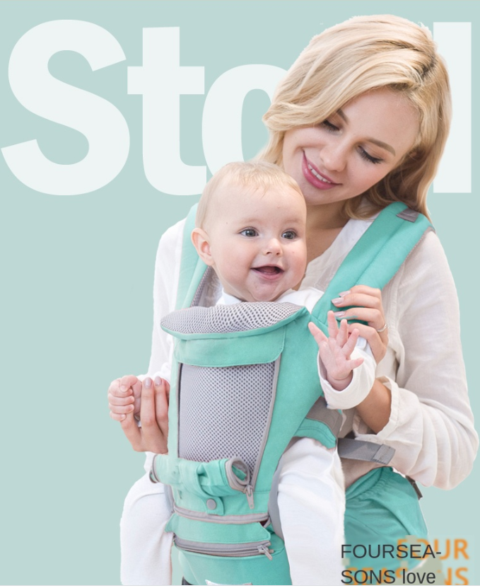 Baby Carrier With Waist Stool(6-in-1) - Hylthi