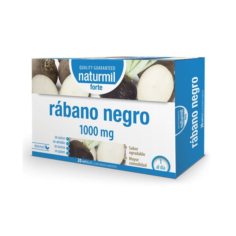 Rábano Negro Forte 1000mg - 20 Ampollas x 15 ml