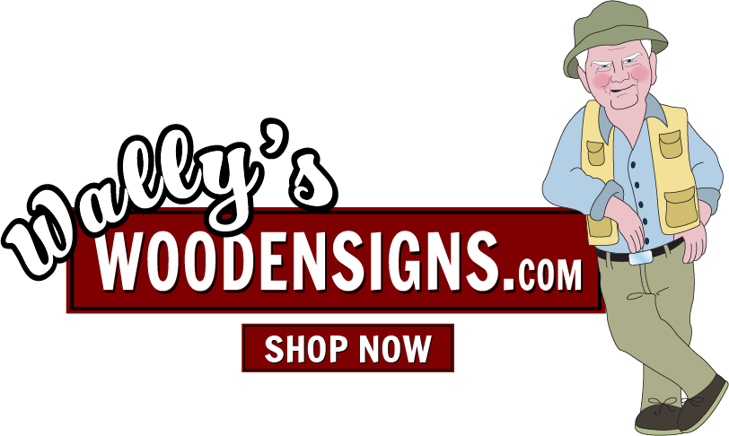 Wallys Wooden Sign Banner