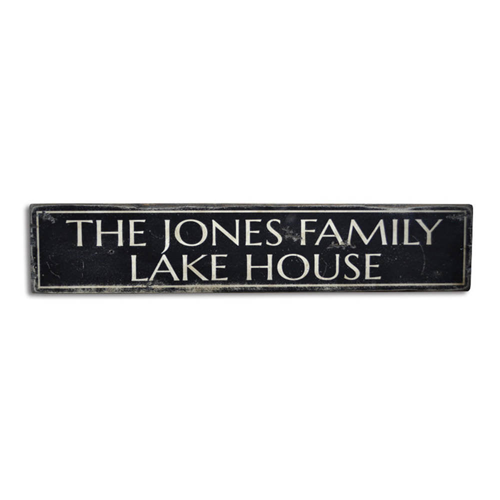 Family Name Lake House Vintage Wood Sign