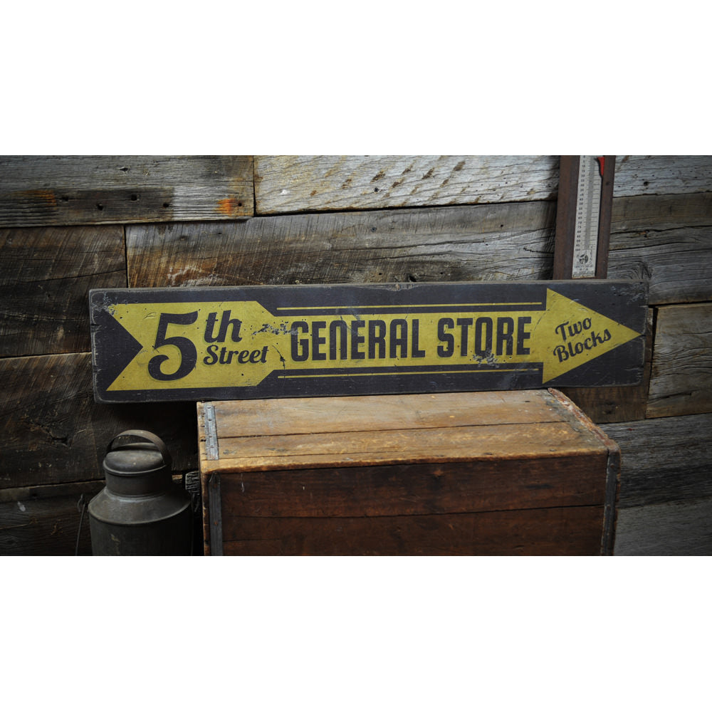 5th Street General Store Vintage Wood Sign