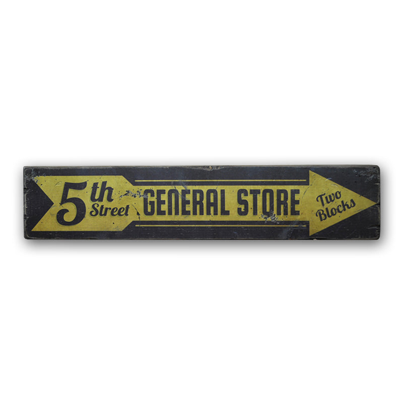 5th Street General Store Rustic Wood Sign