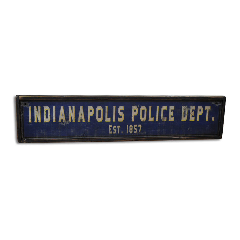 Police Department Vintage Wood Sign