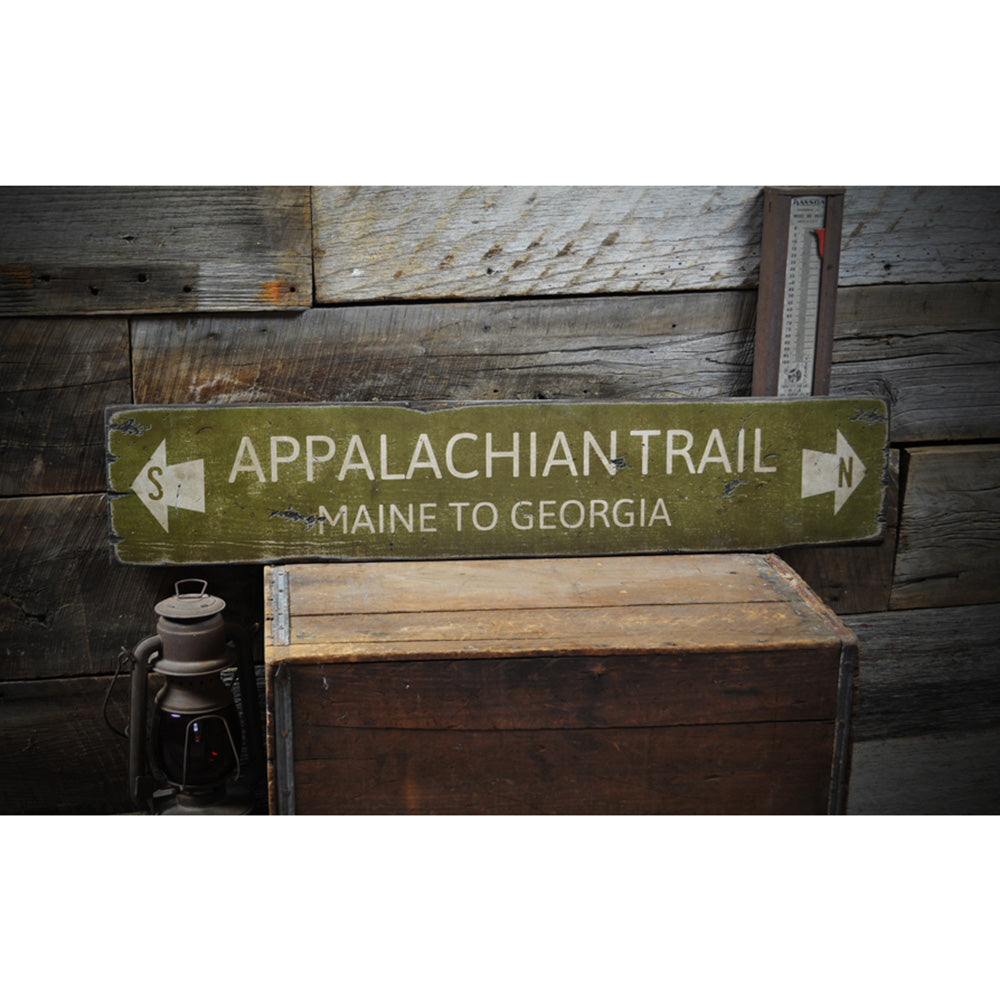 Appalachian Trail Maine to Georgia Rustic Wood Sign