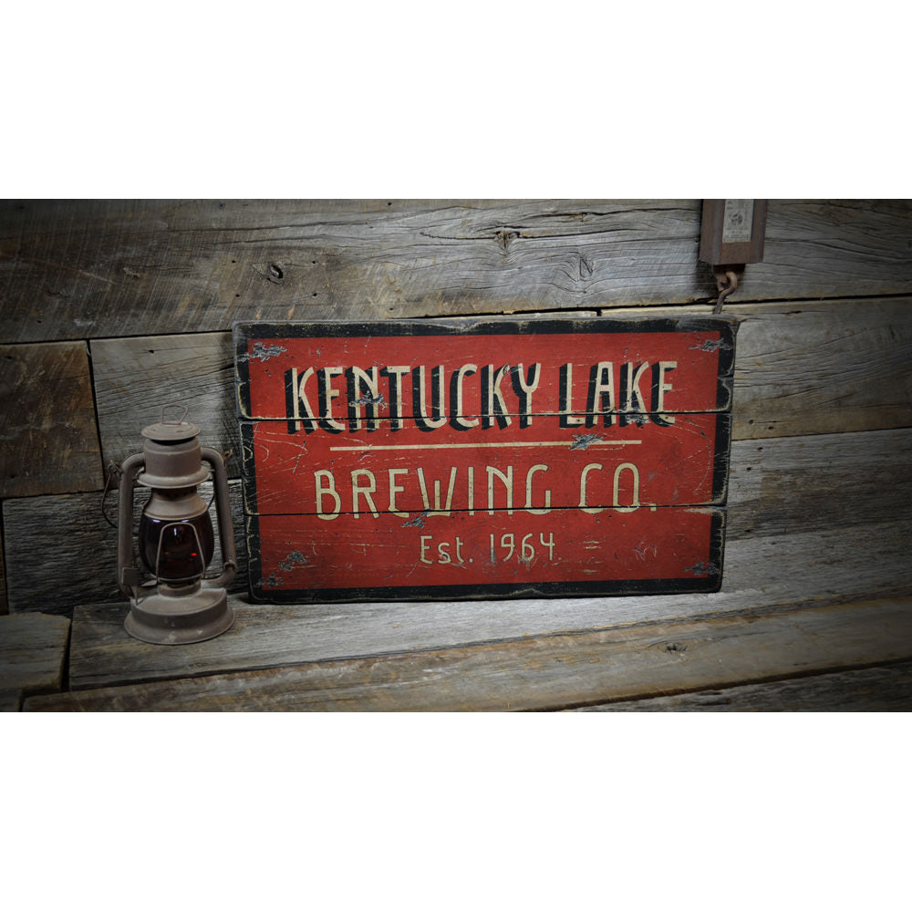 Brewing Company Est. Date Vintage Wood Sign