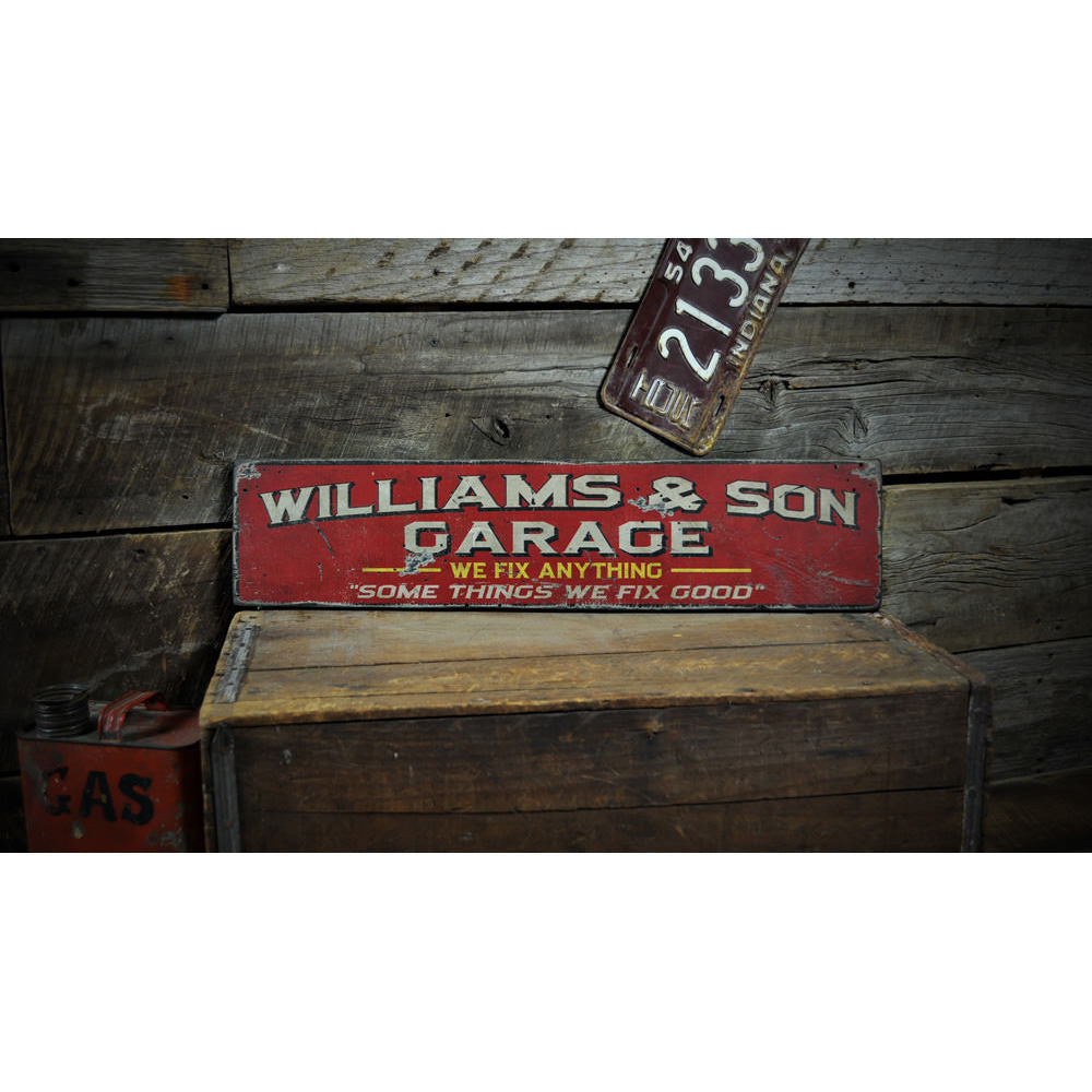 Mechanic Vintage Wood Sign