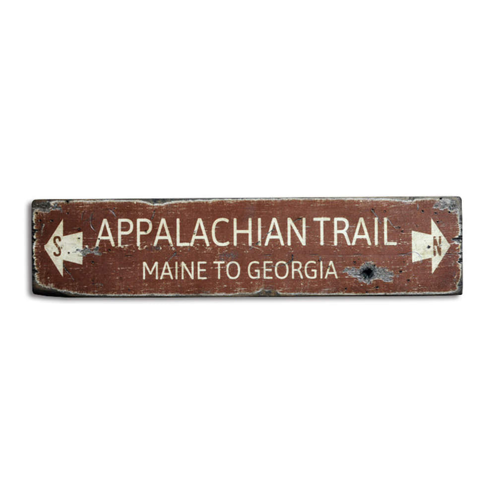 Distressed Appalachian Trail Vintage Wood Sign