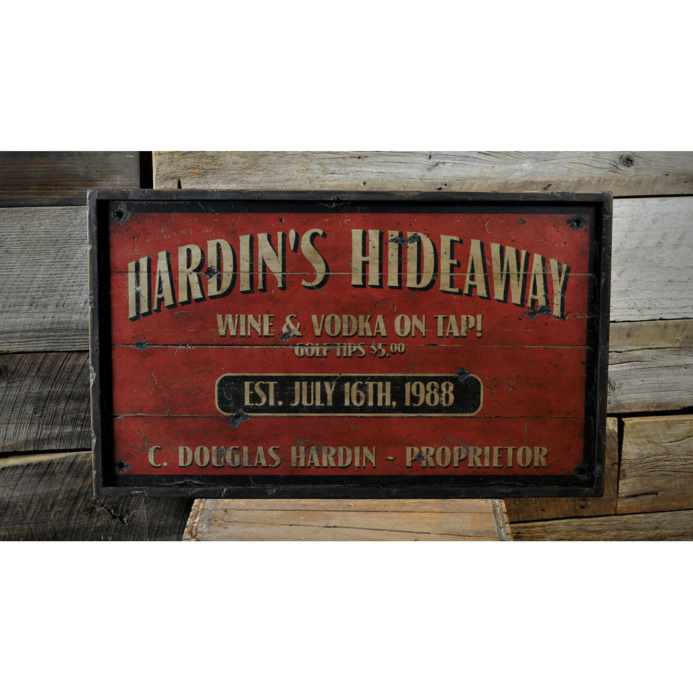 Proprietor Vintage Wood Sign