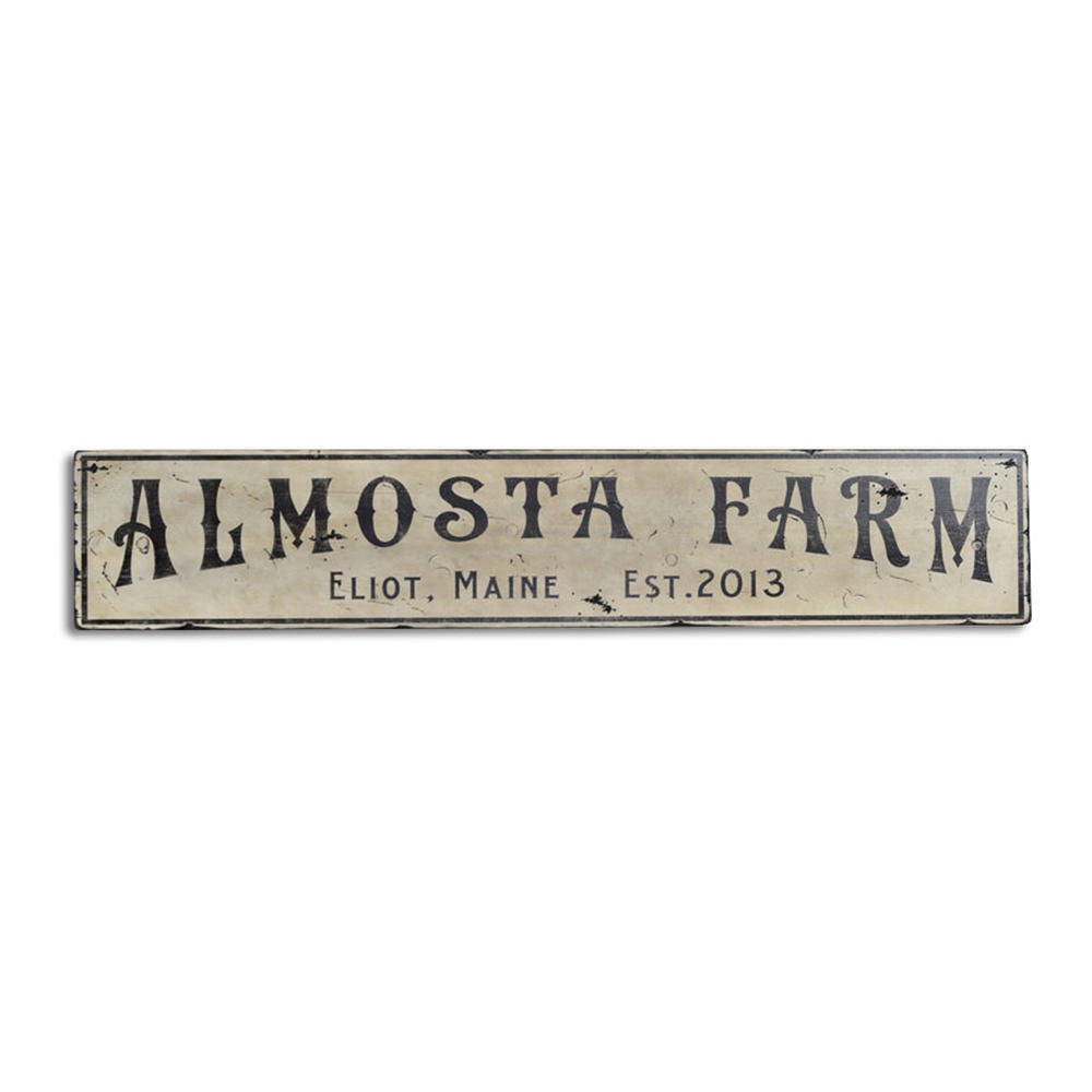 Farm Vintage Wood Sign