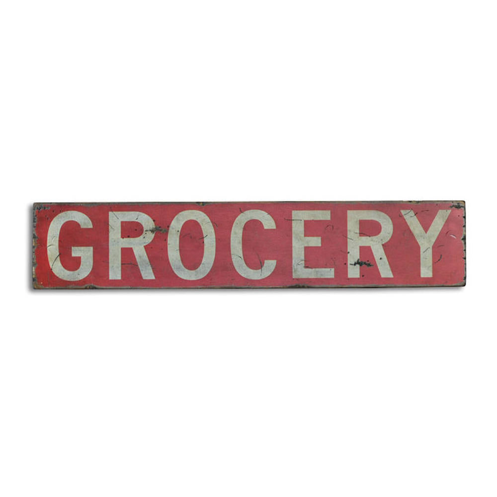 Grocery Vintage Wood Sign