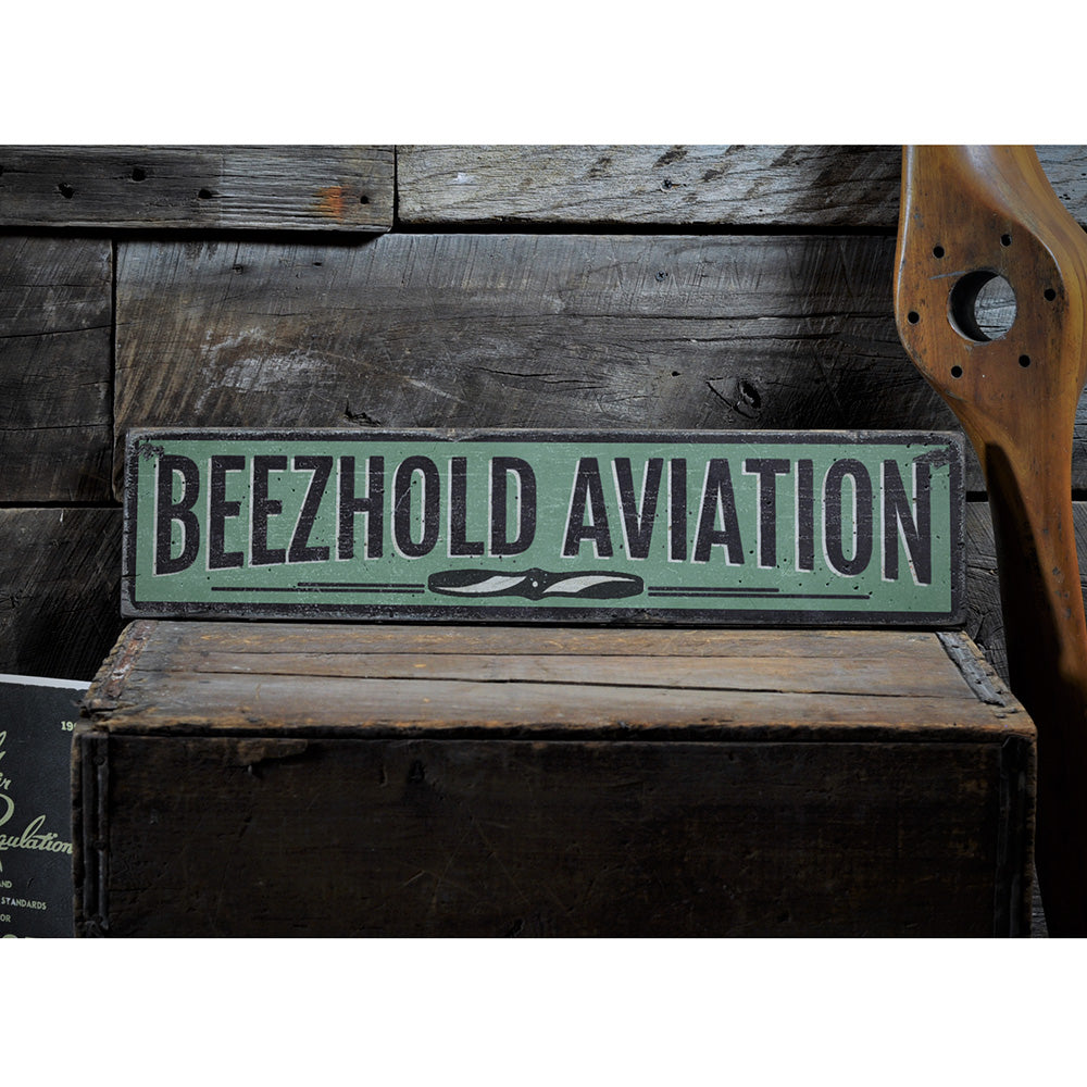 Aviation Rustic Wood Sign