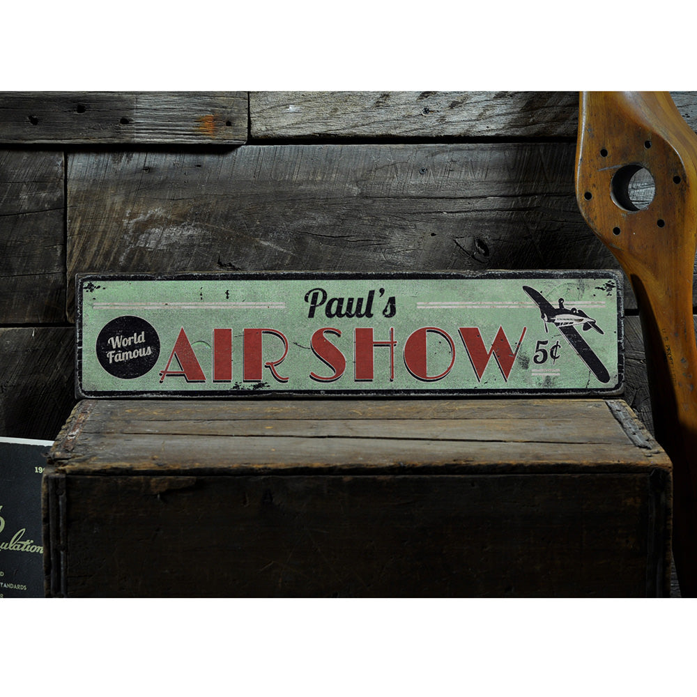 Air Show Vintage Wood Sign