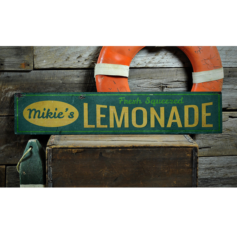 Fresh Squeezed Lemonade Vintage Wood Sign