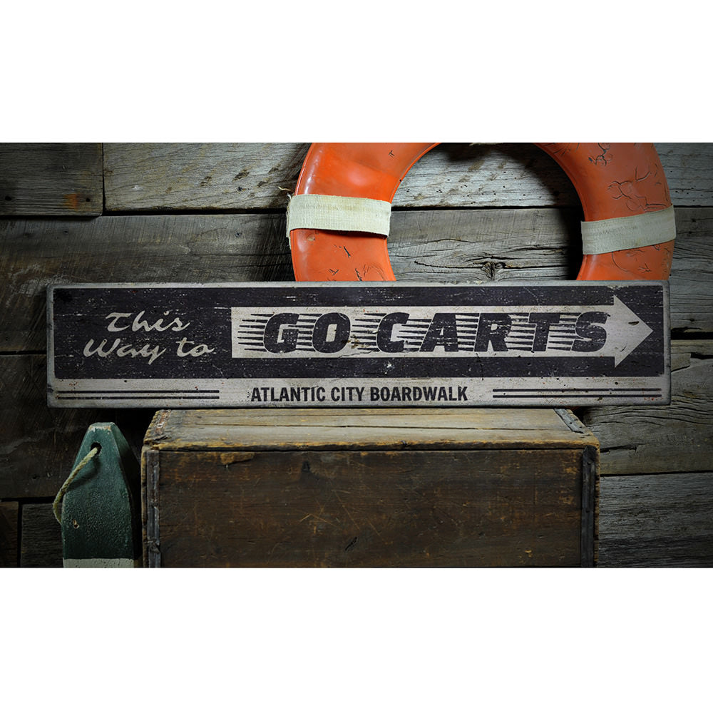 Go Cart Vintage Wood Sign