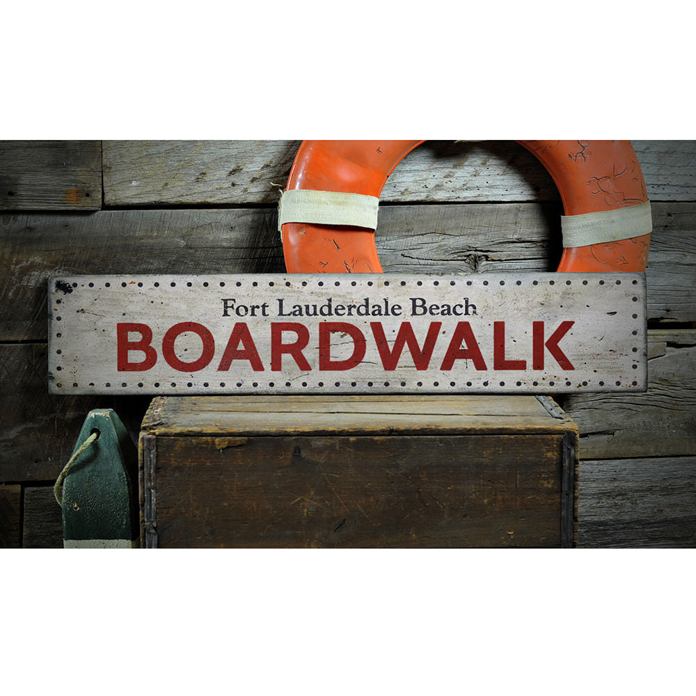 Boardwalk Marquee Vintage Wood Sign