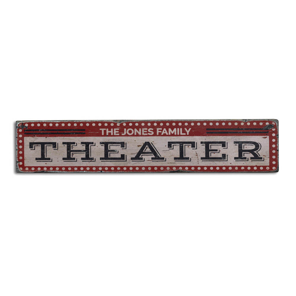 Theater Vintage Wood Sign
