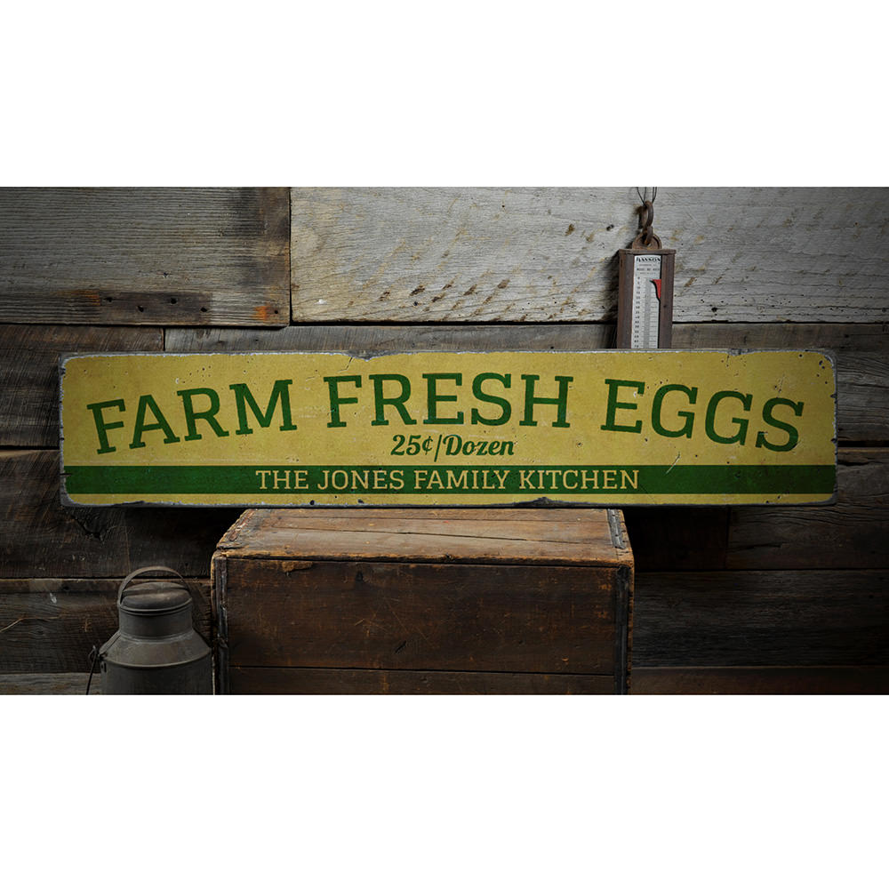 Farm Fresh Eggs Vintage Wood Sign