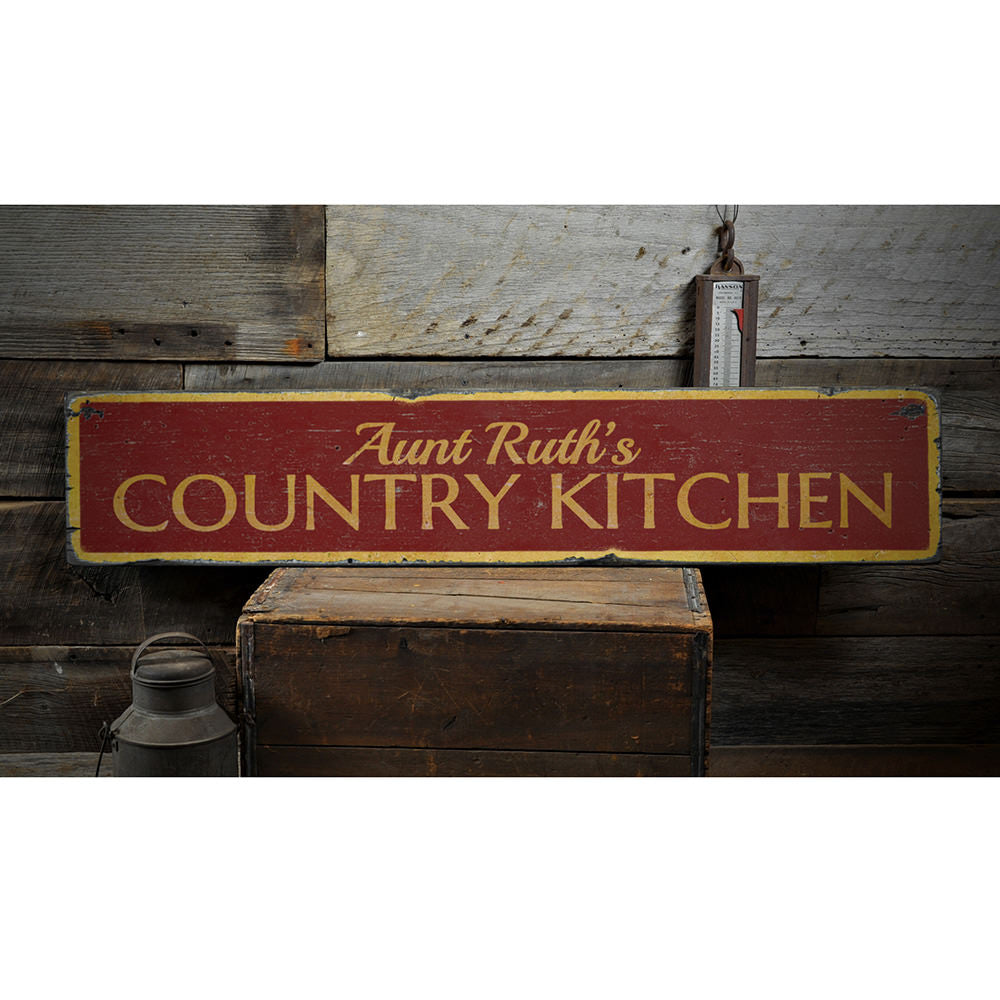 Country Kitchen Vintage Wood Sign