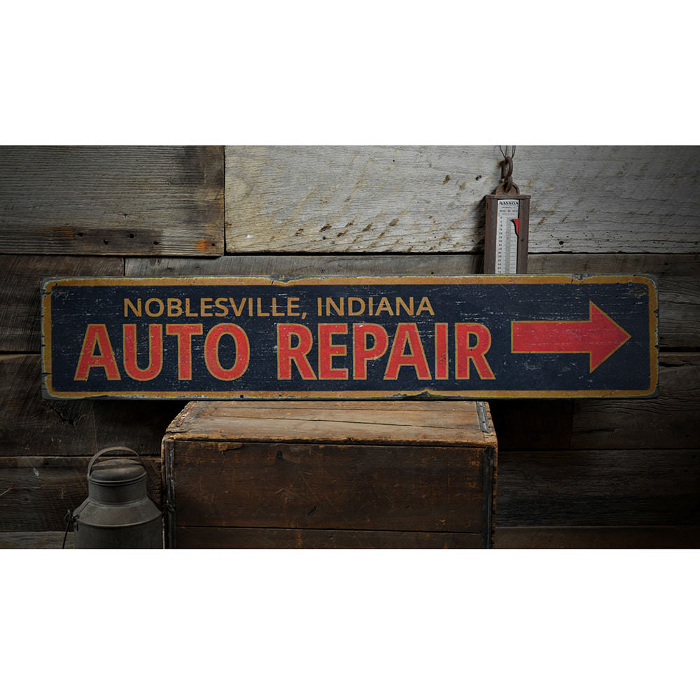 Garage Auto Repair Vintage Wood Sign
