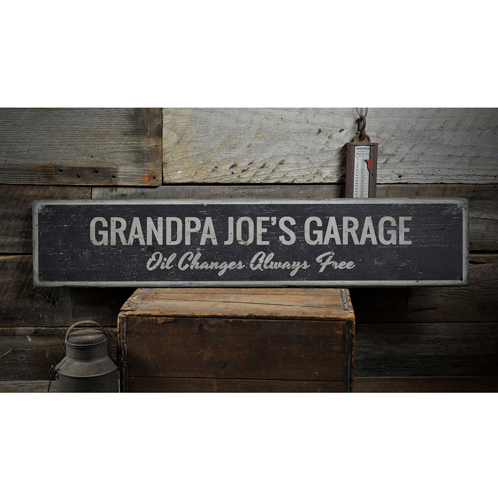 Oil Changes Always Free Vintage Wood Sign