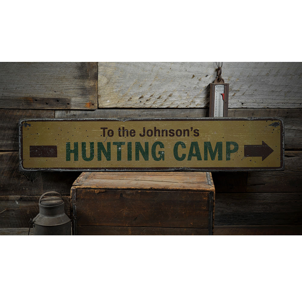 Hunting Camp Vintage Wood Sign