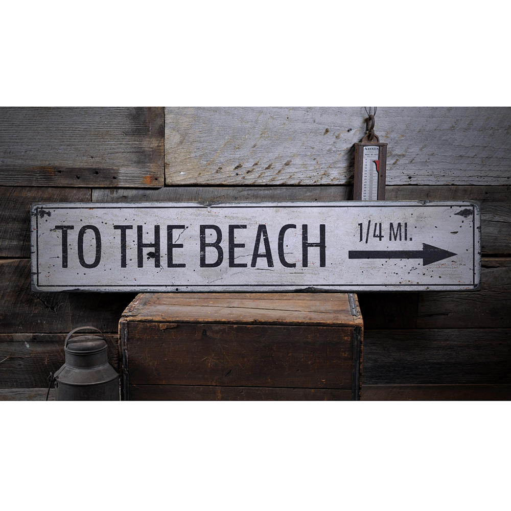 To The Beach Arrow Vintage Wood Sign Www Wallyswoodensigns Com