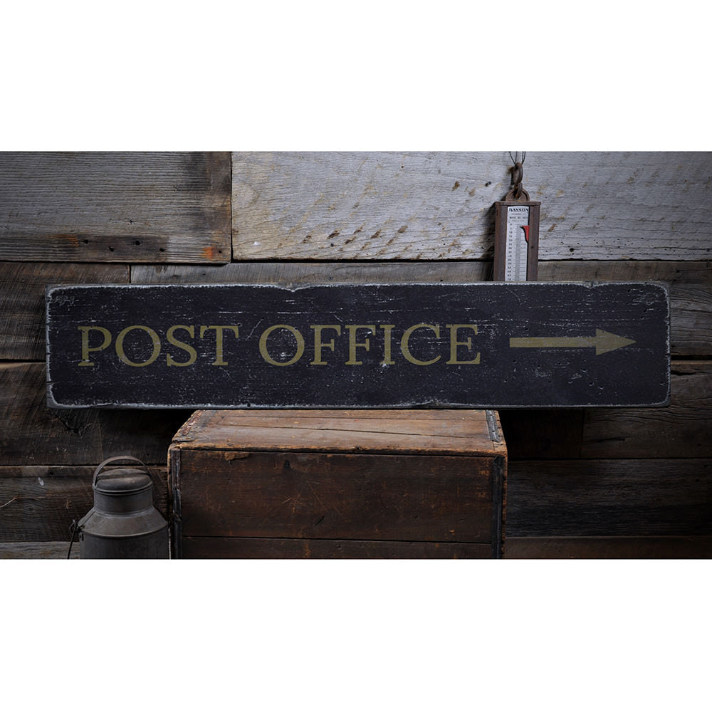 Post Office Vintage Wood Sign
