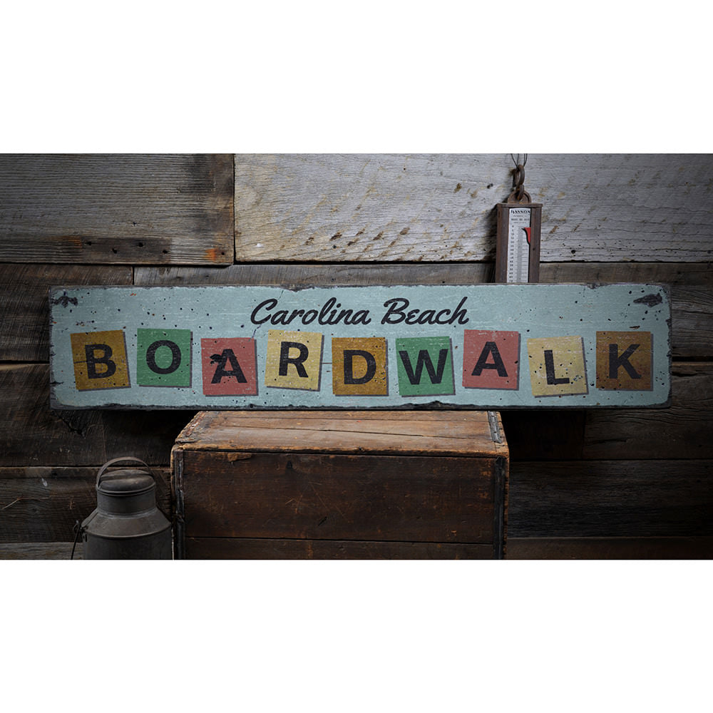 Boardwalk Vintage Wood Sign