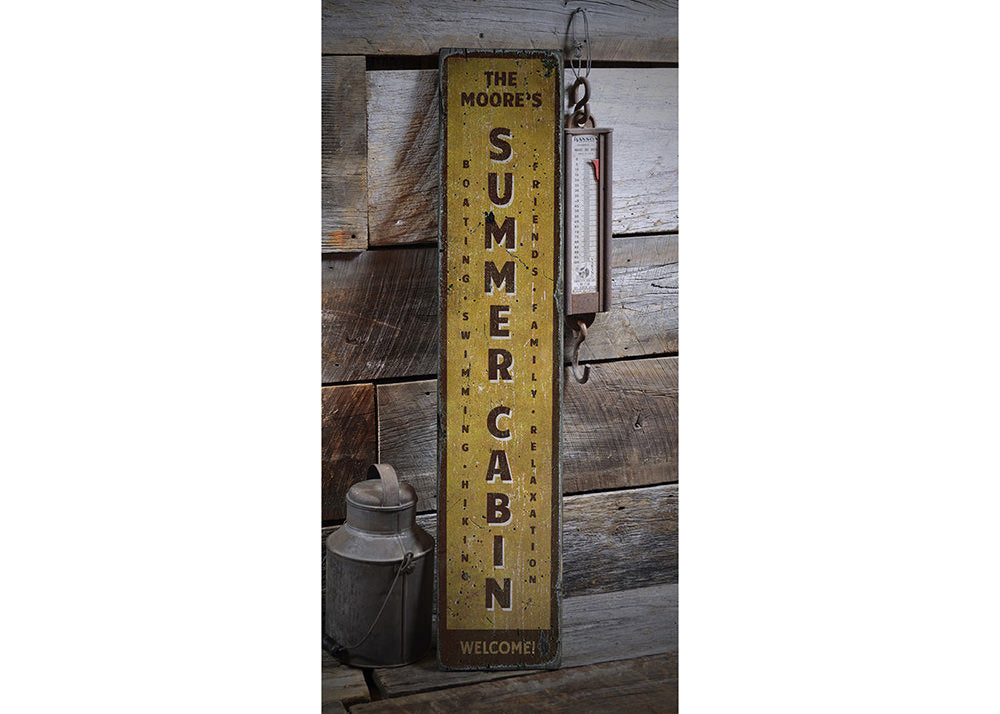Summer Cabin Rustic Wood Sign