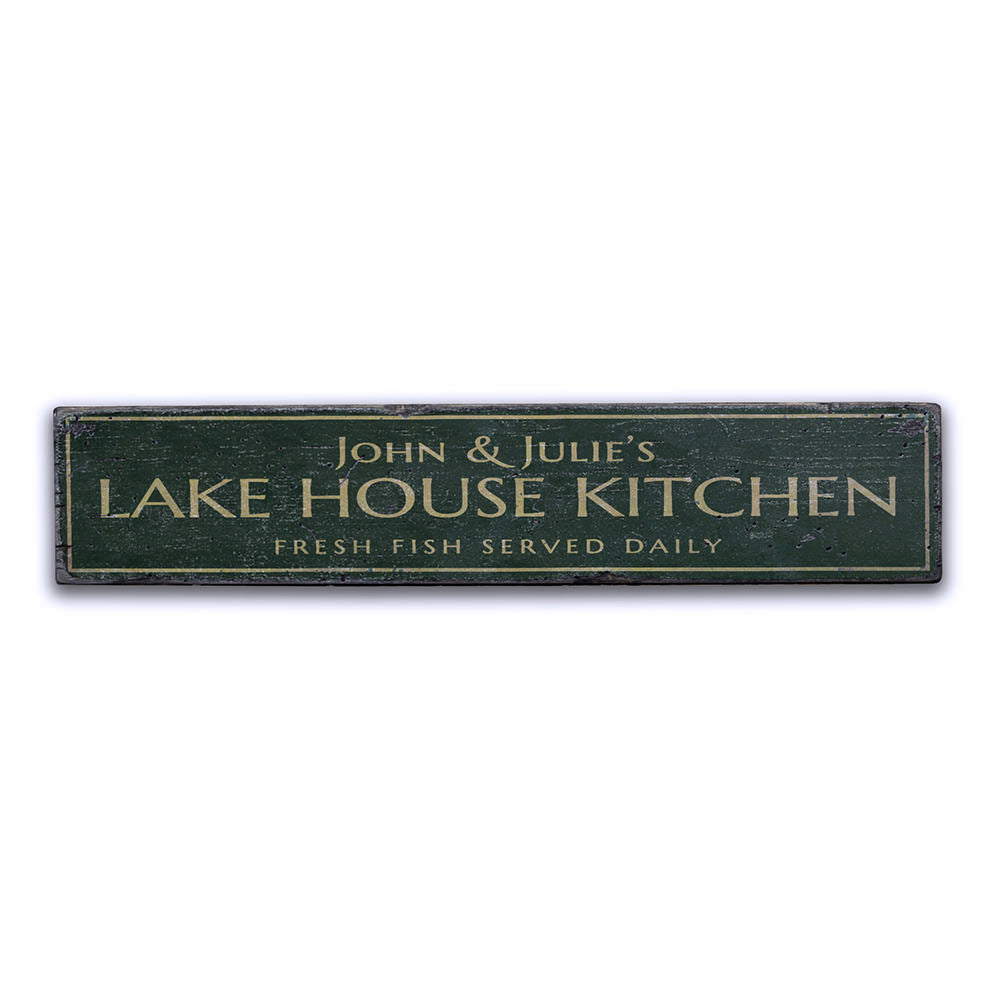 Lake House Kitchen Vintage Wood Sign