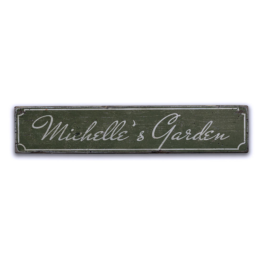 Garden Name Vintage Wood Sign