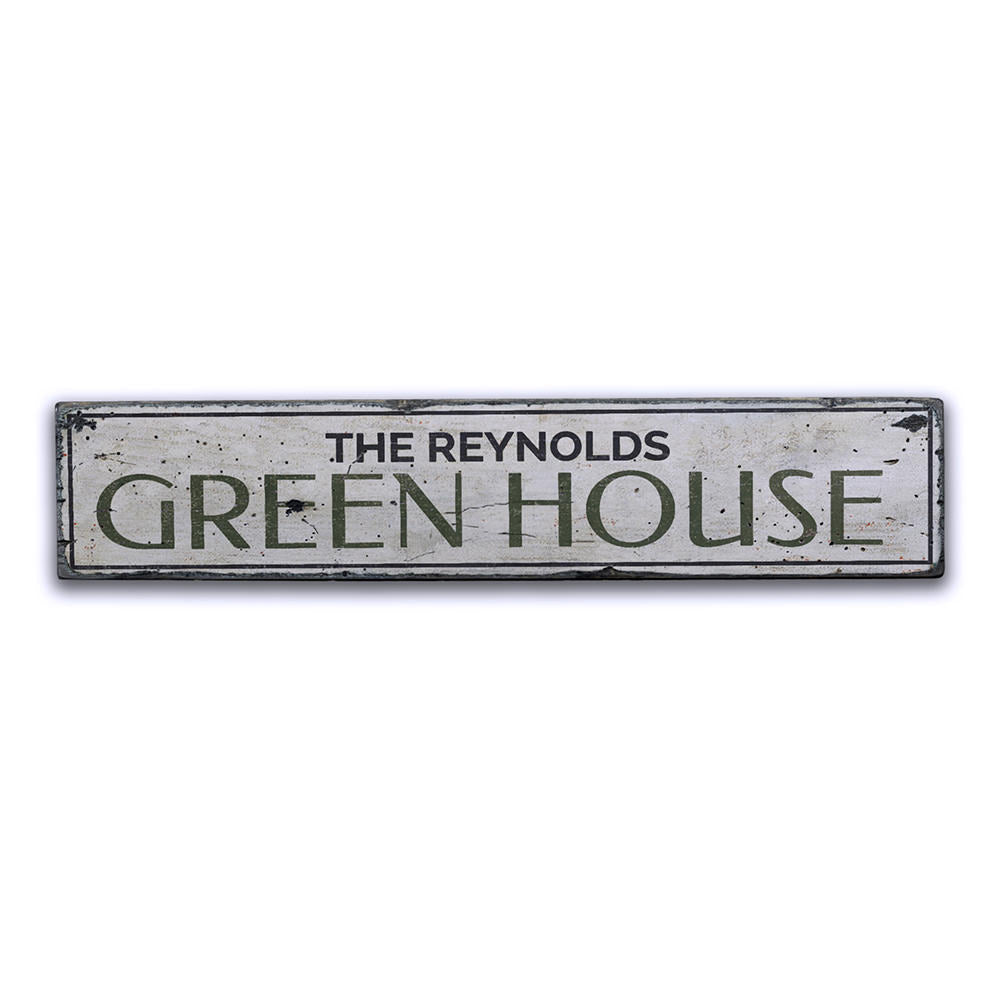 Green House Vintage Wood Sign