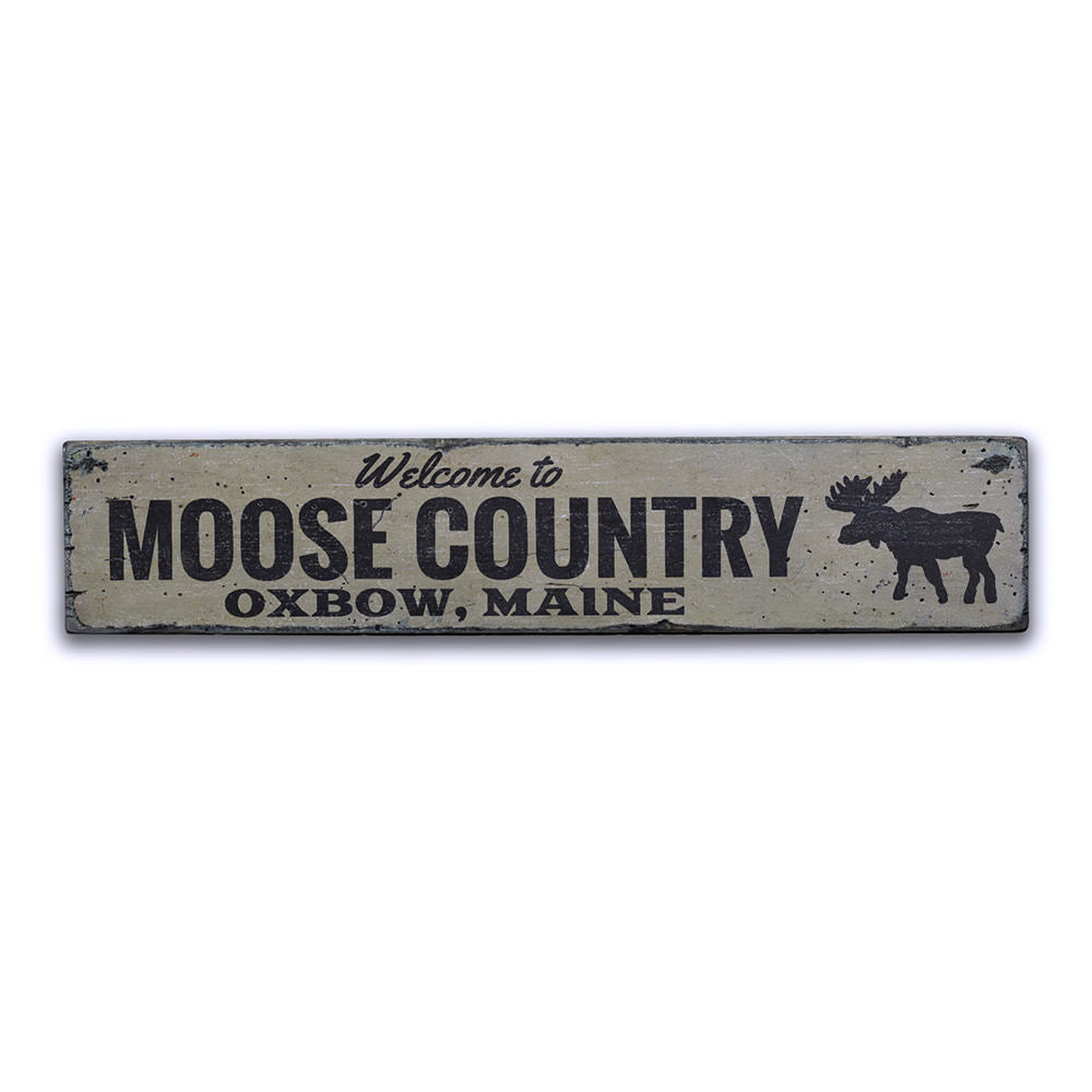 Moose Country Vintage Wood Sign
