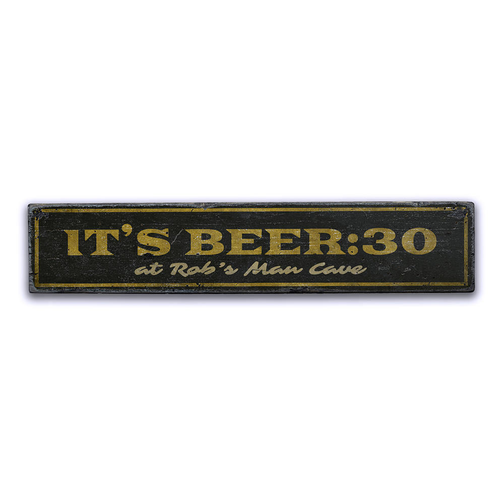 Beer 30 Vintage Wood Sign